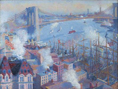 Brooklyn Bridge Painting - Brooklyn Bridge by Theodore Earl Butler