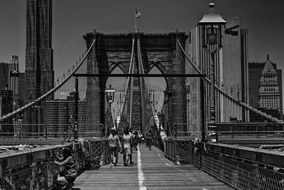 More Nyc Photograph - Brooklyn Brige by D Plinth