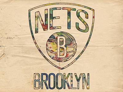 Watercolor Painting - Brooklyn Nets Poster Art by Florian Rodarte