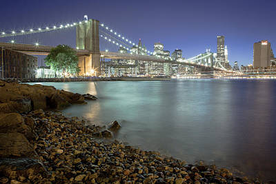 Brooklyn Night Print by Mike Lang