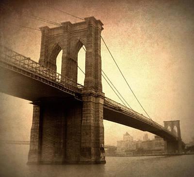 Brooklyn Bridge Digital Art - Brooklyn Nostalgia II by Jessica Jenney