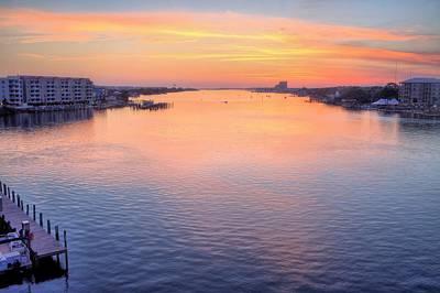 Brooks Bridge Sunset Print by JC Findley