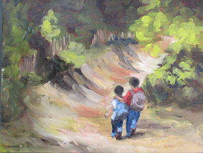Susan L Richardson Art Painting - Brotherly Love by Susan Richardson