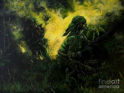 Artist Richard Brooks Painting - Brothers In Arms by Richard Brooks