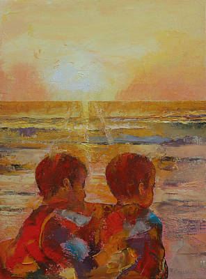 Realist Painting - Brothers by Michael Creese