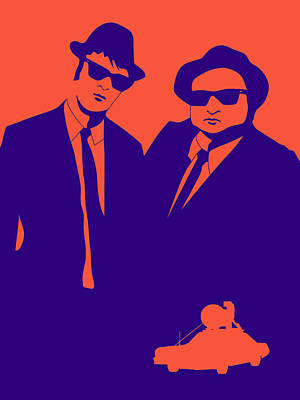Famous Digital Art - Brothers Poster by Naxart Studio