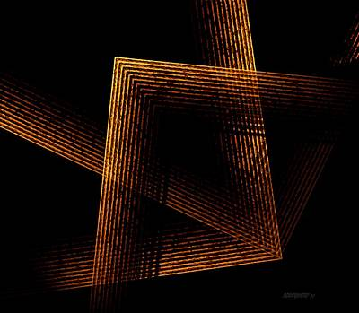 Abstract Artwork Digital Art - Brown And Black In Lines by Mario Perez