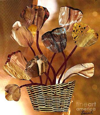 For Business Mixed Media - Brown Arrangement by Sarah Loft