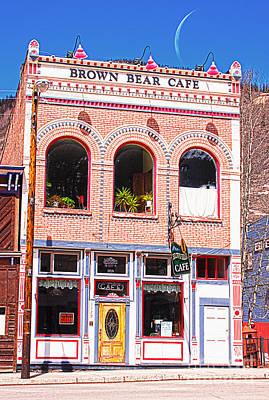 Brown Bear Cafe Silverton Colorado Print by Janice Rae Pariza