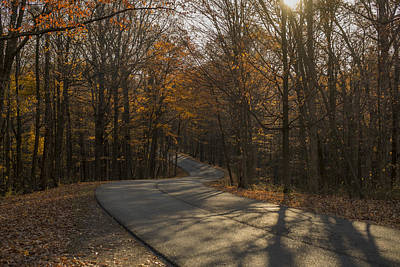 Brown County State Park Nashville Indiana Road Print by David Haskett