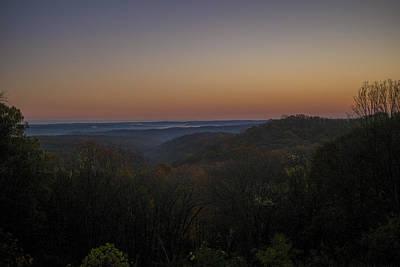 Brown County State Park Nashville Indiana Sunrise Print by David Haskett