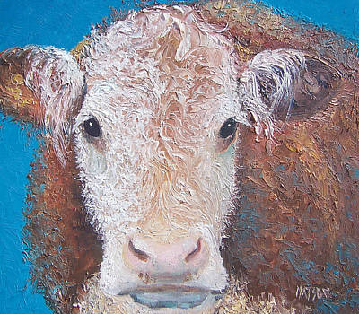 Cow Painting - Brown Cow by Jan Matson