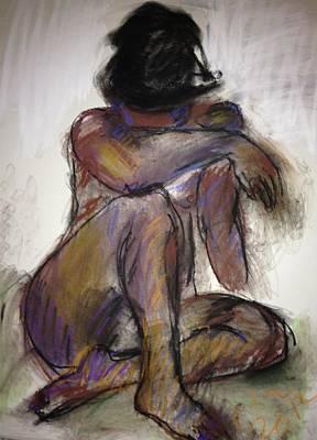 Brown Nude Dreaming Original by Elaine Schloss