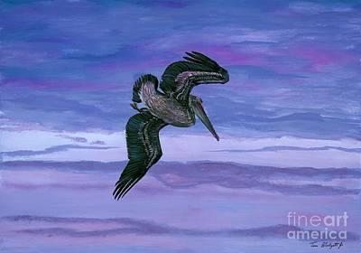 Pelican Painting - Brown Pelican by Tom Blodgett Jr