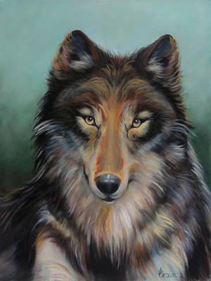Brown Timber Wolf Original by Jean R Brown - J Brown