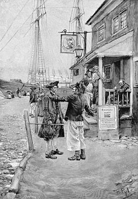 Brownejohns Wharf, New York, Illustration From Old New York Taverns By John Austin Stevens, Pub Print by Howard Pyle