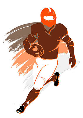Browns Shadow Player2 Print by Joe Hamilton