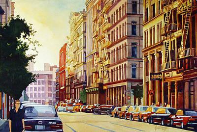 Brownstone Sunset Original by Mick Williams