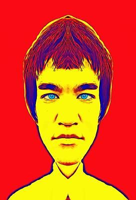 Bruce Lee Alias Print by Art Cinema Gallery