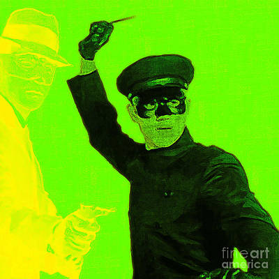 Wingsdomain Digital Art - Bruce Lee Kato And The Green Hornet - Square P54 by Wingsdomain Art and Photography