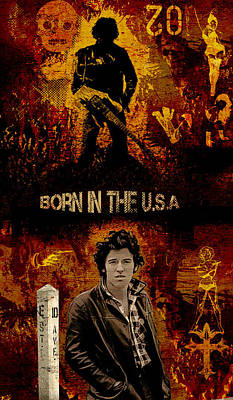 Bruce Springsteen Digital Art - Bruce Springsteen by Dancin Artworks