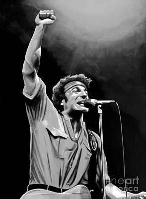 Art Spotlight Mixed Media - Bruce Springsteen by Meijering Manupix