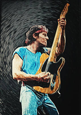 Bruce Springsteen Digital Art - Bruce Springsteen by Taylan Soyturk