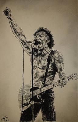Bruce Springsteen Print by Tim Brandt