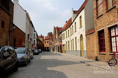 Bruges Side Street Print by Carol Groenen