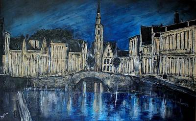 Bruges Belgium Original by Lloyd  Walker