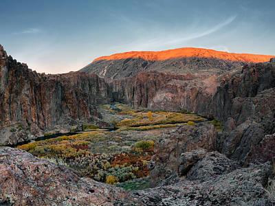 Basalt Photograph - Bruneau River And Canyon by Leland D Howard