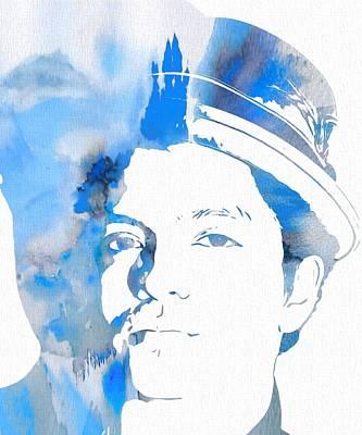 Bruno Mars Blue Watercolor Print by Dan Sproul