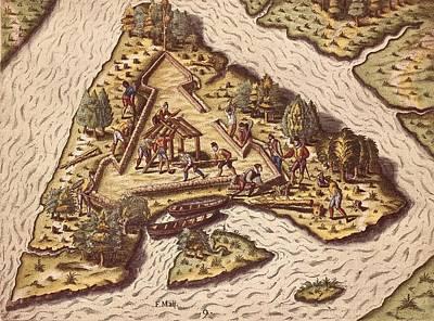Bry, Theodor De 1528-1598 Le Moyne De Print by Everett