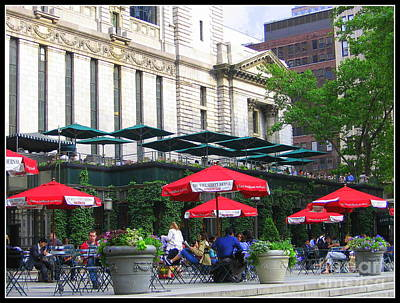 Bryant Park At Noon Original by Dora Sofia Caputo Photographic Art and Design