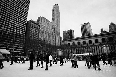 Bryant Park Ice Skating Rink New York City  Print by Joe Fox