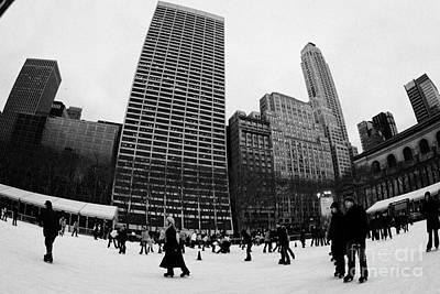 Bryant Park Ice Skating Rink New York City Nyc Print by Joe Fox
