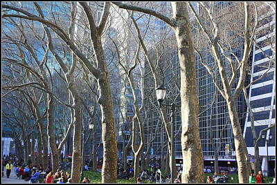Bryant Park In Winter Original by Dora Sofia Caputo Photographic Art and Design