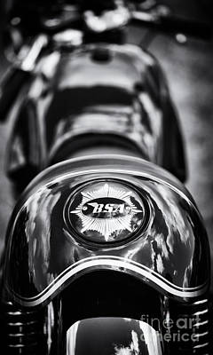 Bsa Cafe Racer Monochrome Print by Tim Gainey