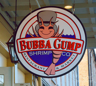 Bubba Gump Shrimp Sign Print by Alys Caviness-Gober