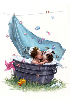 Bubble Bath Print by Isabella Kung