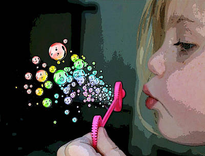 Bubble Magic Print by Ellen Henneke