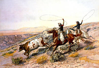 Buccaroos Print by Charles Russell