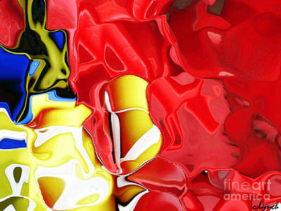 Abstract Forms Digital Art - Bucket And Spade by Carol Lynch