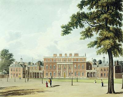 Buckingham House, From The History Print by William Westall