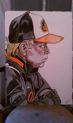 Cal Ripken Painting - Buck's Way by Lynde Washington
