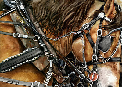 Buckskin Horse Painting - Buckskin by Nadi Spencer