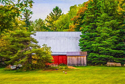 Bucolic Barn - Paint Print by Steve Harrington