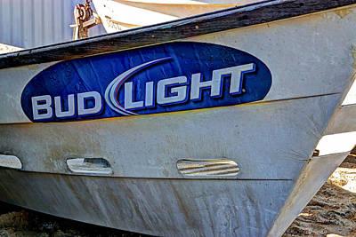 Bud Light Dory Boat Print by Heidi Smith