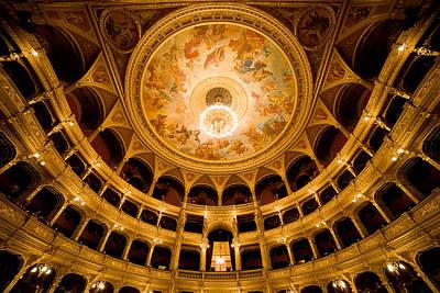 Budapest Attractions Photograph - Budapest Opera House Auditorium by Artur Bogacki
