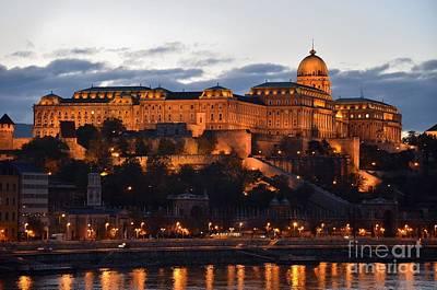 Budapest Palace At Night Hungary Print by Imran Ahmed